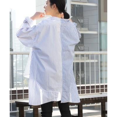 シャツ ブラウス 【etsinta/エシンタ】リメイクオーバーシャツ