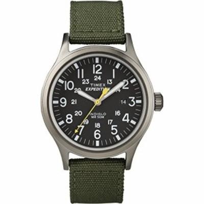 腕時計 タイメックス メンズ Timex Men's T49961 Expedition Scout 40 Green Nylon Strap Watch
