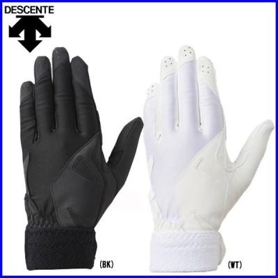 ◇デサント 野球 ソフトボール 守備用手袋 学生用パッド付き守備用グラブ(左手用) DBBNJD20LT