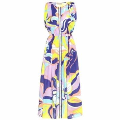 エミリオ プッチ Emilio Pucci Beach レディース ワンピース ワンピース・ドレス Printed cotton maxi dress Viola/Lime