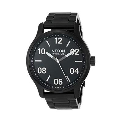 【新品】NIXON Patrol A1242 - Black/Silver - 100m Water Resistant Men's Analog Classic Watch (42mm Watch Face, 21mm-19mm Stainless Steel