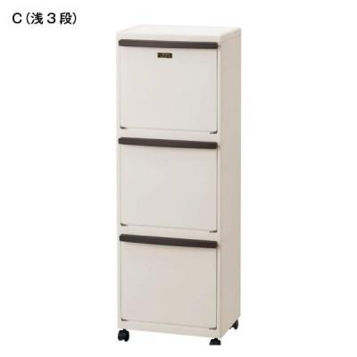 ゴミ箱 キッチン分別 分別ダストペール C 浅3段
