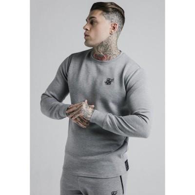 シックシルク カットソー メンズ トップス EXHIBIT - Long sleeved top - grey marl