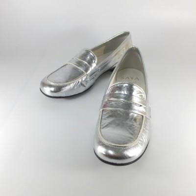 saya 靴 サヤ ラボキゴシ 靴 50608 SV シルバー メタリック ローファー スリッポン カジュアル オシャレな靴 レディース 履きやすい靴 レディース 靴 セール