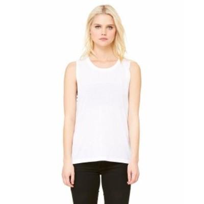 ファッション トップス Clementine Womens Flowy Scoop Muscle T-Shirt CLMB8803TN All Sizes