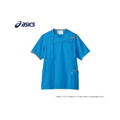 asics CHM854-4340 スクラブ(半袖)(男性用) ナースウェア・白衣・介護ウェア