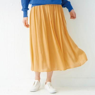 【モニター人気ベスト10】軽やかカラーロングスカート【丈が選べる】