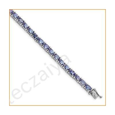 "925 Sterling Silver Tanzanite Blue December Gemstone Bracelet 7""【並行輸入品】"