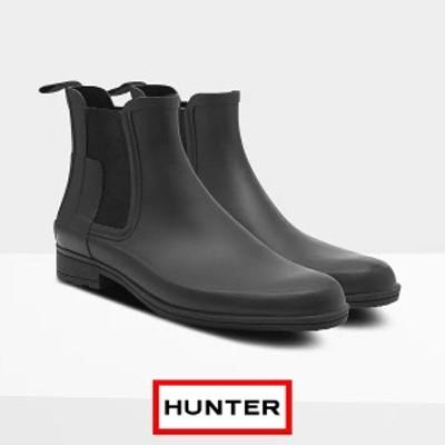 ハンター レインブーツ メンズ ショート ブランド HUNTER おしゃれ 長靴 オリジナル リファインド チェルシーブーツ ショートブーツ サイ
