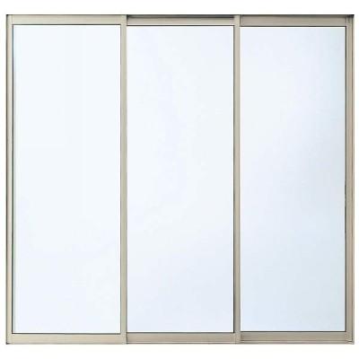 YKKAP窓サッシ コンセプト窓 ワイドスライディング 3枚連動片引き窓 断熱障子[オーバルバーハンドル]:[幅1640mm×高2030mm] YKK YKKアルミサッシ サッシ