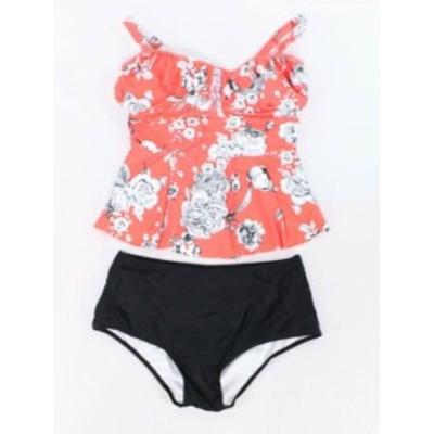 スポーツ用品 スイミング Designer Brand NEW Orange Black Womens Size XXL Tankini Swimwear