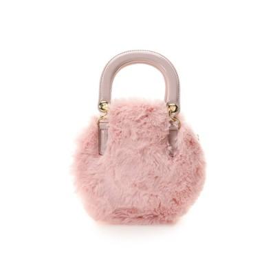 【アンドシュエット】 サークル型ファーバッグ レディース ピンク FREE & chouette