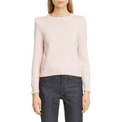 マーク ジェイコブス MARC JACOBS レディース ニット・セーター トップス Padded Shoulder Cashmere Sweater Pink Melange