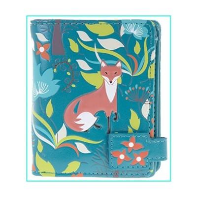 【新品】Shag Wear Women's Small Wallet With Zipper Pocket Forest Fox Teal(並行輸入品)