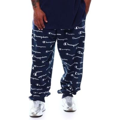 チャンピオン Champion メンズ ジョガーパンツ ボトムス・パンツ all over print fleece jogger pants (b&t) Navy