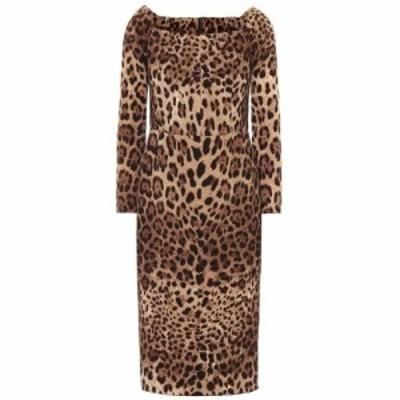 ドルチェandガッバーナ Dolce and Gabbana レディース ワンピース ワンピース・ドレス Leopard-print wool dress Leo New