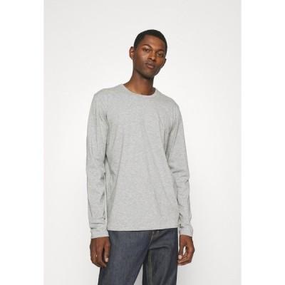 ラグアンドボーン カットソー メンズ トップス PRINCIPLE BASE TEE - Long sleeved top - mottled grey