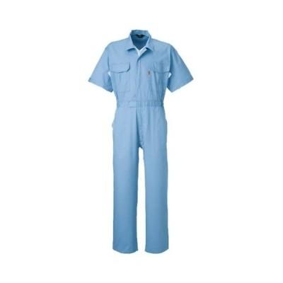 YAMATAKA(ヤマタカ)半袖つなぎ ツナギ おしゃれえり付春夏素材 綿100%yt-845 ライトブルー LL