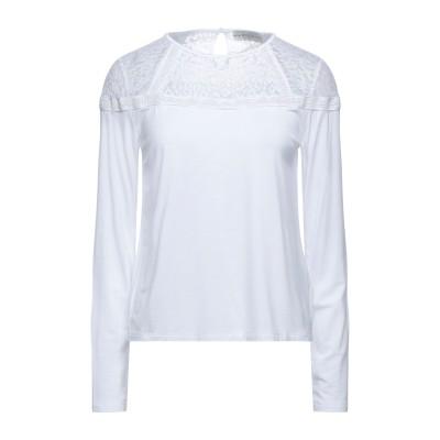ゲス GUESS T シャツ ホワイト XS レーヨン 95% / ポリウレタン 5% / ナイロン T シャツ