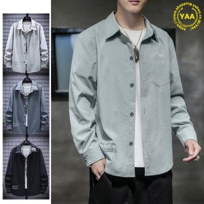 シャツ メンズ 大きいサイズ カジュアルシャツ おしゃれ トップス ワークシャツ shirt 長袖 40代 50代 60代 2021 春夏 新作
