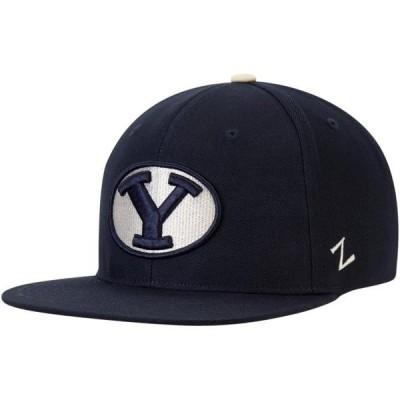 ユニセックス スポーツリーグ アメリカ大学スポーツ BYU Cougars Zephyr Sepia Adjustable Hat - Navy - OSFA 帽子