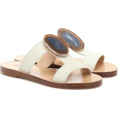 ガブリエラ ハースト Gabriela Hearst レディース サンダル・ミュール シューズ・靴 Hades Agate leather sandals Ivory