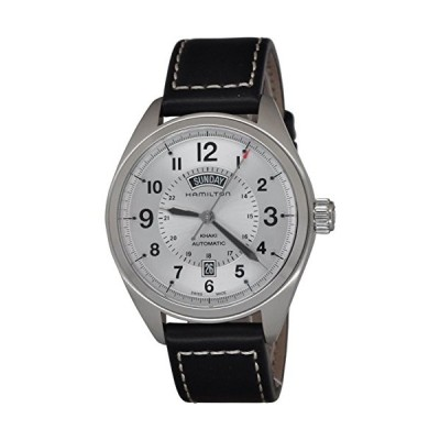 Hamilton Khaki Field White Dial SS Leather Automatic Men's Watch H70505753 並行輸入品