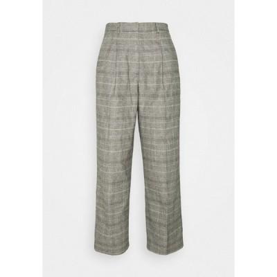 マルコポーロ デニム カジュアルパンツ レディース ボトムス SOFT CHECK PANTS - Trousers - multi/cloudy melange