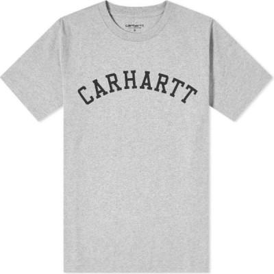 カーハート Carhartt WIP メンズ Tシャツ ロゴTシャツ トップス university logo tee Grey Heather/Black