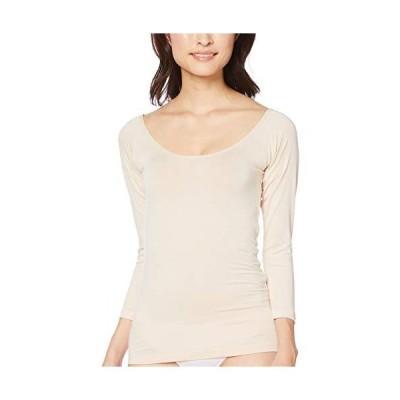[セシール] インナーシャツ スマートヒート オフショルダー 8分袖 チラ見えしない UE-1292 レディース ベージュ 日本 S (日本サイズS相