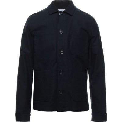 サムソエ&サムソエ SAMSOE ? SAMSOE メンズ シャツ トップス Solid Color Shirt Dark blue