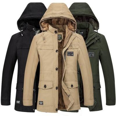 ミリタリージャケット アウトドア メンズ ジャケット 中綿コート ビジネス ボアジャケット 裏ボア 大きいサイズ あったか 厚手 秋冬