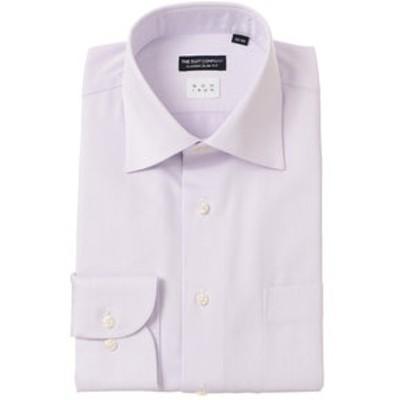 【NON IRON】ワイドカラードレスシャツ ヘリンボーン〔EC・CLASSIC SLIM-FIT〕