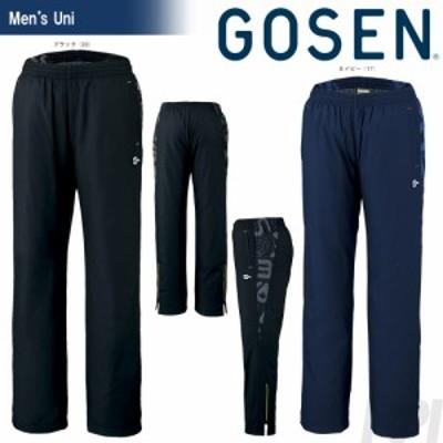 「2017新製品」GOSEN(ゴーセン)「UNI ウィンドウォーマーパンツ(裏起毛)UY1702」テニスウェア「2017FW」