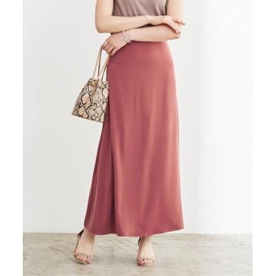 ur's / サテンセミフレアスカート WOMEN スカート > スカート
