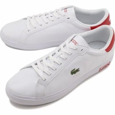 ラコステ LACOSTE スニーカー パワーコート M POWER COURT 0520 1 [SM00600-286 FW20] メンズ ローカットシューズ 靴 WHT/RED ホワイト系