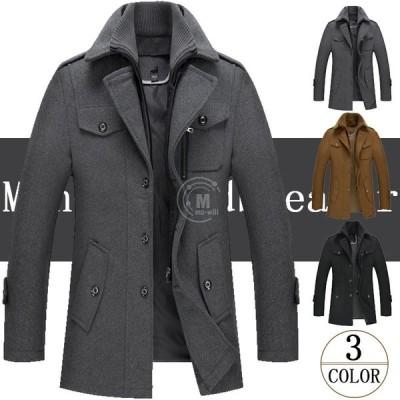 チェスターコート メンズ ウールコート ビジネスジャケット 高級感 ショートジャケット トレンチコート 紳士服 男性用コート 通勤用 2020