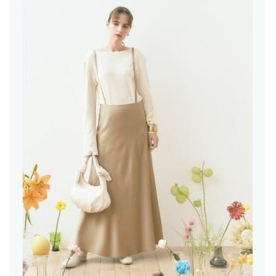 【ティティベイト/titivate】 ストラップ付きサテンナロースカート