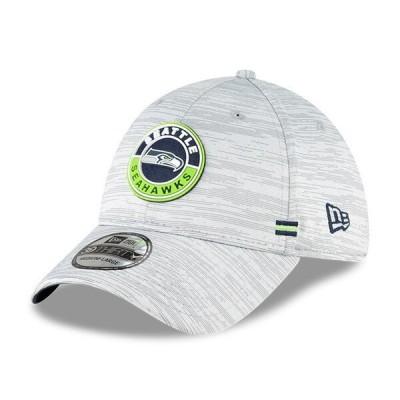 シーホークス キャップ 帽子 NFL ニューエラ New Era グレー 2020 NFL サイドライン 39THIRTY メンズ