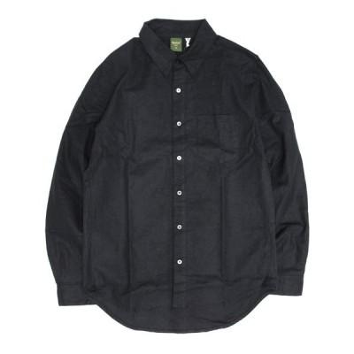 Phatee ファティ FLAT SHIRTS (ブラック)(ヘンプコットンシャツ)