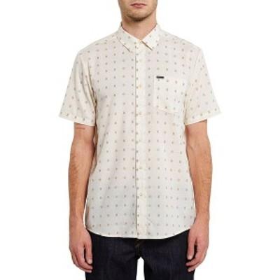 ボルコム メンズ シャツ トップス Milton Short-Sleeve Shirt Primer White
