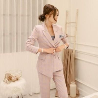 おしゃれ ビジネス スーツジャケット スーツ パンツドレス パンツスーツ セレモニー フォーマル 大きいサイズ セットアップ 上下セット