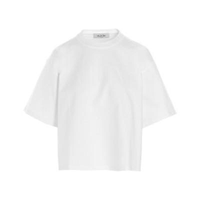 VALENTINO/バレンチノ White 'VLTN' T-shirt レディース 春夏2021 VB3MG11A66B0B4 ju
