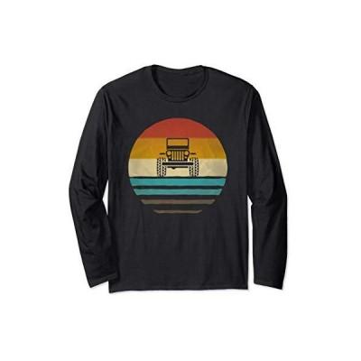 レトロ ヴィンテージ サンセット 4x4 車 オフロード波男性女性ギフト 長袖Tシャツ
