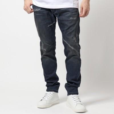 DIESEL ディーゼル 00SU3F 069KB Krooley JoggJeans ジョグジーンズ デニム パンツ ジップフライ ウォッシュ ダメージ加工 01 メンズ