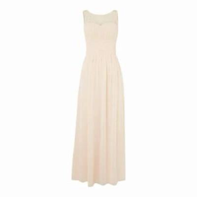 リトルミストレス パーティードレス Beaded Top Maxi Dress nude