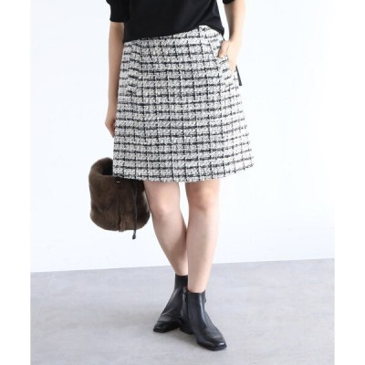 スカート オリジナルファンシーツィードミニスカート