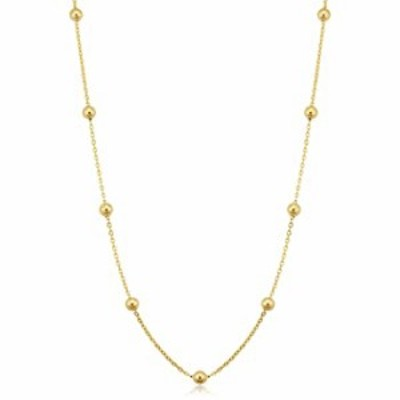 14k Yellow Gold Filled Ball Station Satellite Necklace for Women (4 mm, 20 inch)