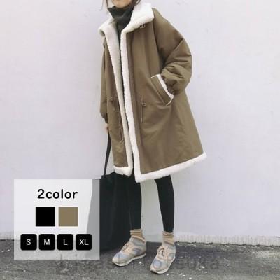 コートモッズコートロング丈ロングコートミリタリージャケット中綿コート裏ボア厚手防寒