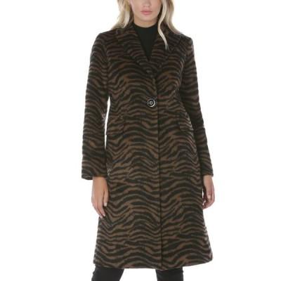 タハリ レディース コート アウター Zebra-Print Walker Coat